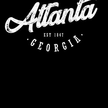 Atlanta Georgia Design Shirt for Travelers by JannikGHG
