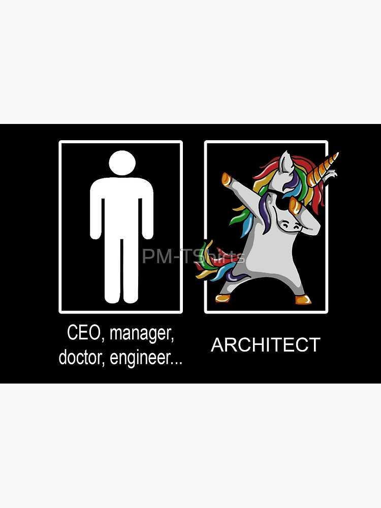 Occupation Dab Unicorn Architect by PM-TShirts