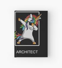 Occupation Dab Unicorn Architect Hardcover Journal