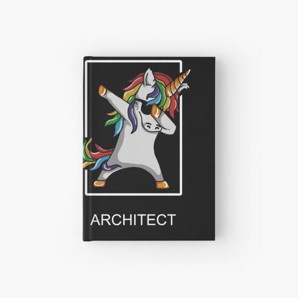 Occupation Dab Unicorn Architect Hardcover Journal
