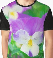 purple pansy in late spring  Graphic T-Shirt