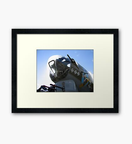 B17 Nose In The Air Framed Print
