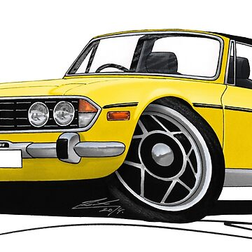 Triumph Stag Yellow (with Black Interior) by yeomanscarart