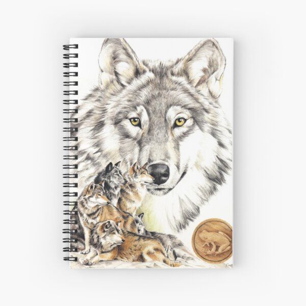 Native american astrology sign Wolf (Pisces) Spiral Notebook