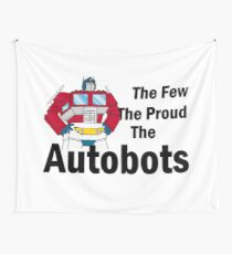 Transformers - The Few The Proud - Black Font Wall Tapestry
