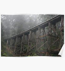 Noojee Trestle Bridge, Victoria Poster