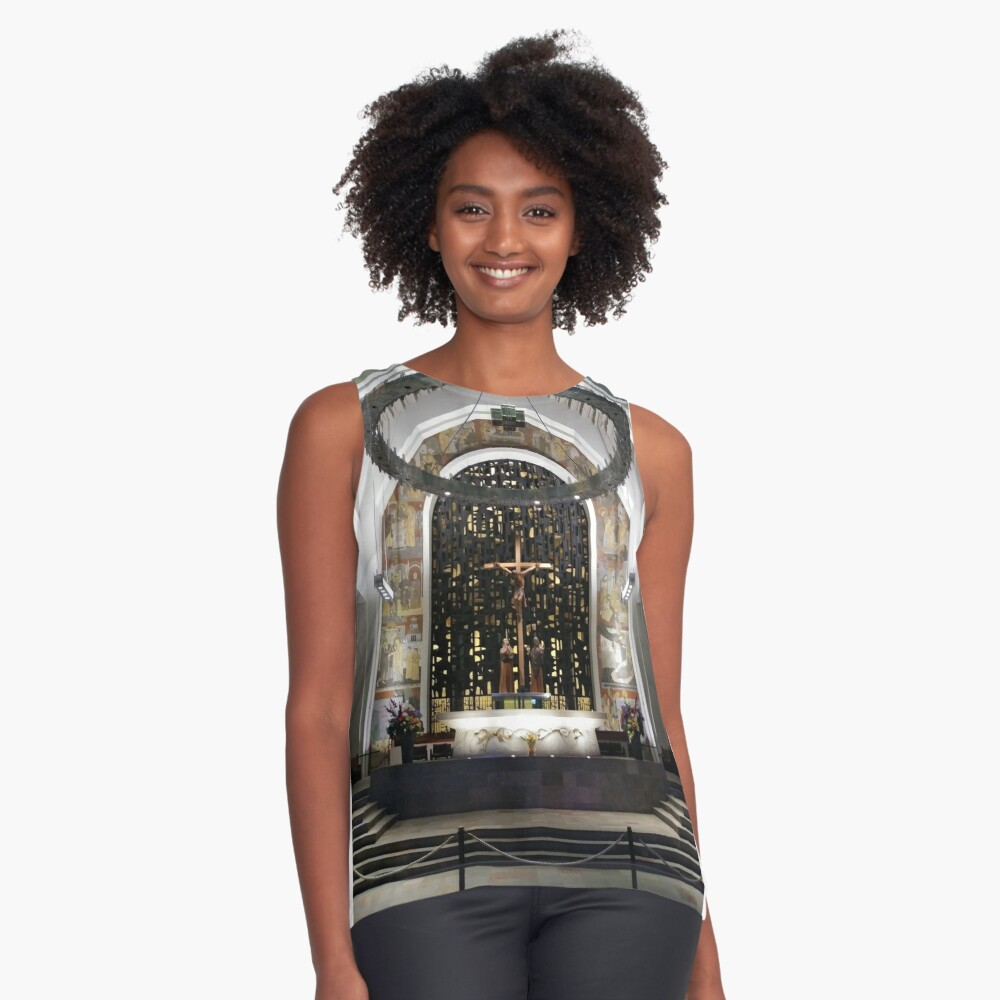 Montreal, #Montreal #City, #MontrealCity, #Canada, #buildings, #streets, #places, #views, #nature, #people, #tourists, #pedestrians, #architecture, #flowers, #monuments, #sculptures, #Cathedral Sleeveless Top