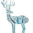 green deer watercolor  by ColorandColor