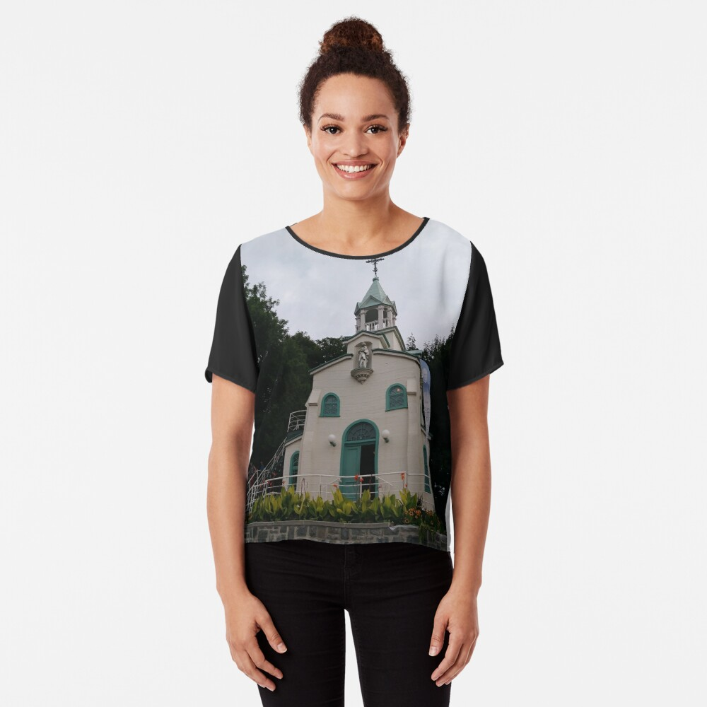 Montreal, #Montreal #City, #MontrealCity, #Canada, #buildings, #streets, #places, #views, #nature, #people, #tourists, #pedestrians, #architecture, #flowers, #monuments, #sculptures, #Cathedral Chiffon Top