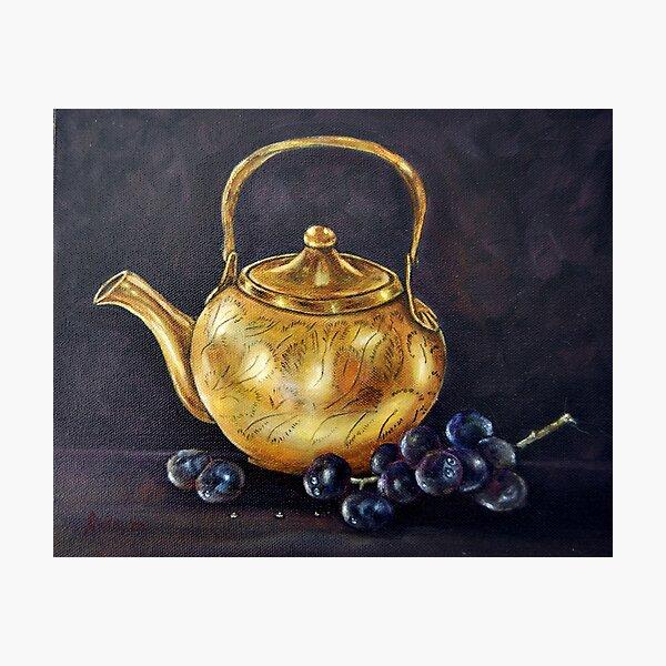 """Copper Pot"" - Oil Painting Photographic Print"