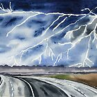 Thunderstorm en route by Irina Reznikova