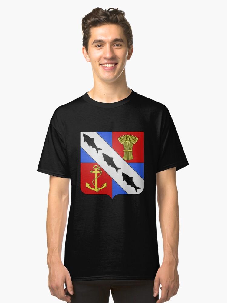 French France Coat of Arms 13420 Blason ville fr Le Passage d'Agen Lot et Garonne Classic T-Shirt Front