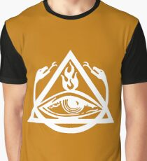 The Order of the Triad - White on Orange Graphic T-Shirt