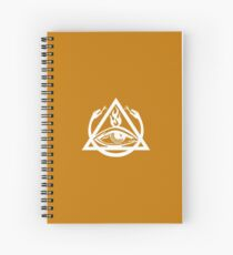 The Order of the Triad - White on Orange Spiral Notebook