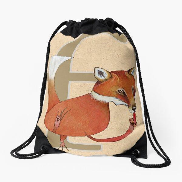 F is for FOX Drawstring Bag