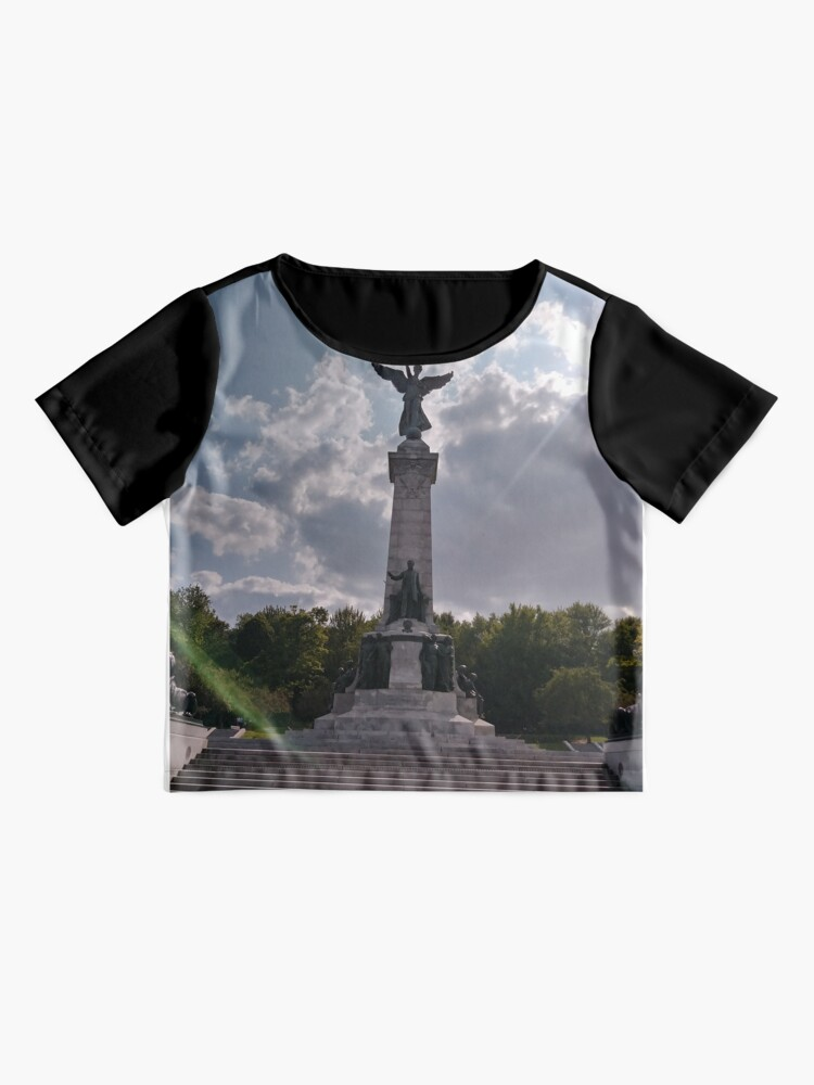 Alternate view of Statue, Art form, #Statue, #ArtForm,  Montreal, #Montreal #City, #MontrealCity, #Canada, #places, #views, #nature, #tourists, #pedestrians, #architecture, #flowers, #monuments, #sculptures, #Cathedral Chiffon Top