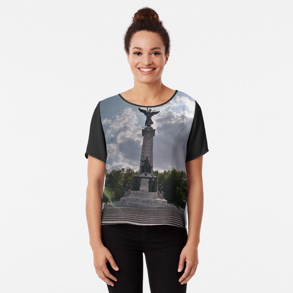 Statue, Art form, #Statue, #ArtForm,  Montreal, #Montreal #City, #MontrealCity, #Canada, #places, #views, #nature, #tourists, #pedestrians, #architecture, #flowers, #monuments, #sculptures, #Cathedral Chiffon Top