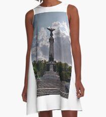 Statue, Art form, #Statue, #ArtForm,  Montreal, #Montreal #City, #MontrealCity, #Canada, #places, #views, #nature, #tourists, #pedestrians, #architecture, #flowers, #monuments, #sculptures, #Cathedral A-Line Dress