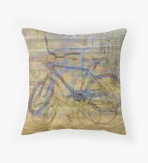 Bicycles and Tricycles Throw Pillow