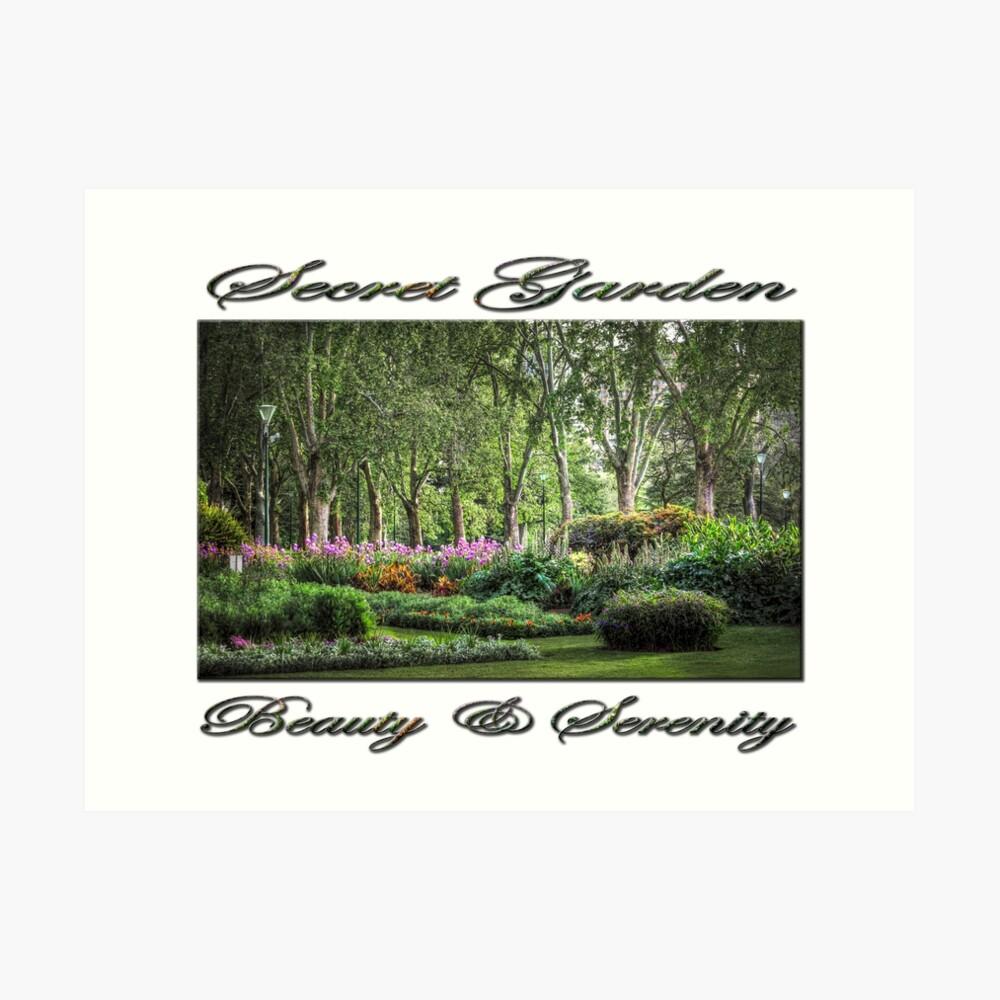 Secret Garden, Beauty & Serenity Art Print