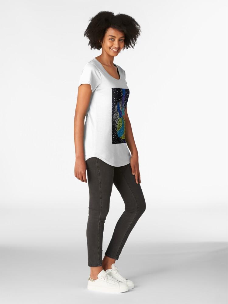 Alternate view of Let's Rock Premium Scoop T-Shirt