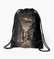 Red cloud in Paris (France) Drawstring Bag
