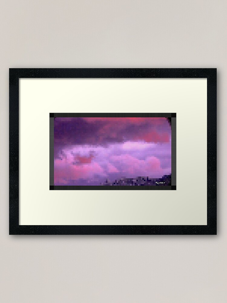 Alternate view of P^RPLE by RootCat Framed Art Print