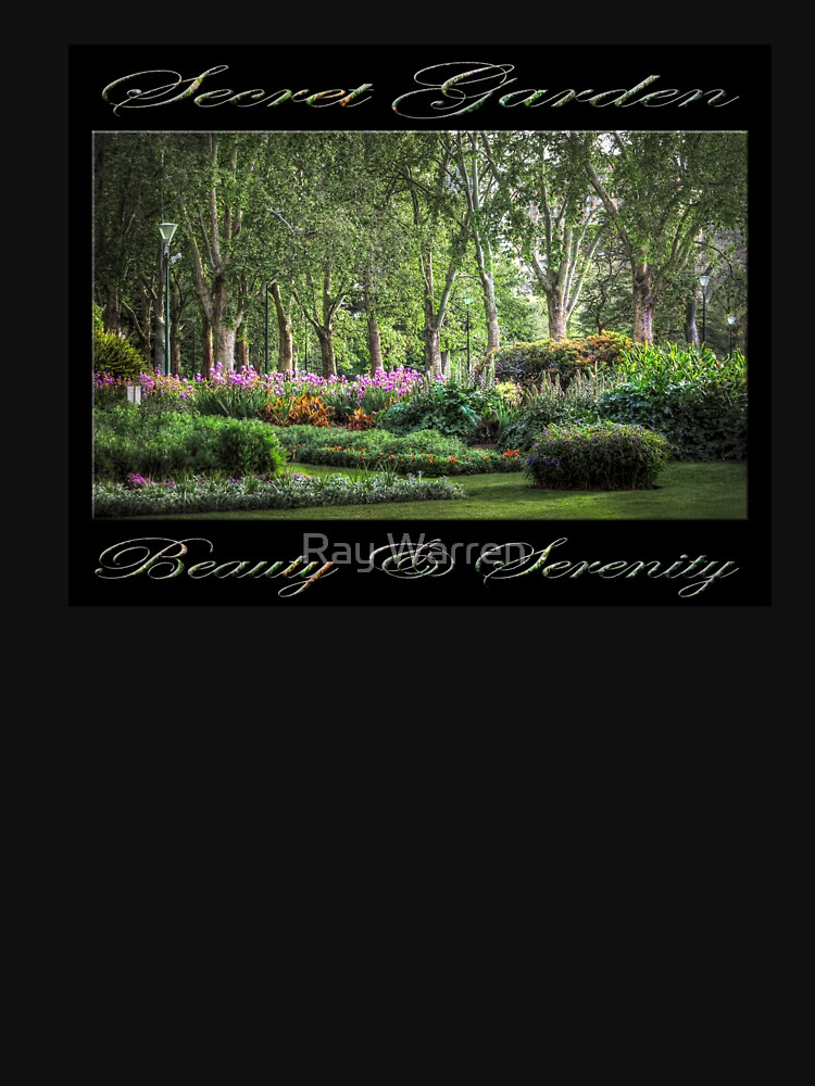 Secret Garden, Beauty & Serenity (on black) by RayW