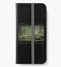 Secret Garden, Beauty & Serenity (on black) iPhone Wallet/Case/Skin