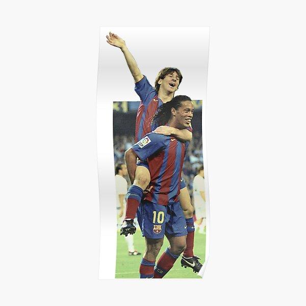 Messi - Ronaldinho - primer gol messi Póster