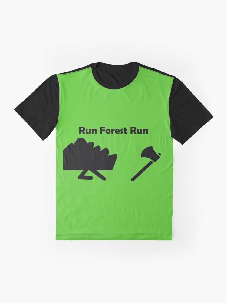 Alternate view of Run Forest Run Graphic T-Shirt