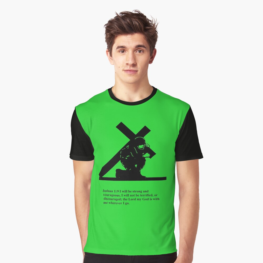 Soldier Bearing Cross Graphic T-Shirt