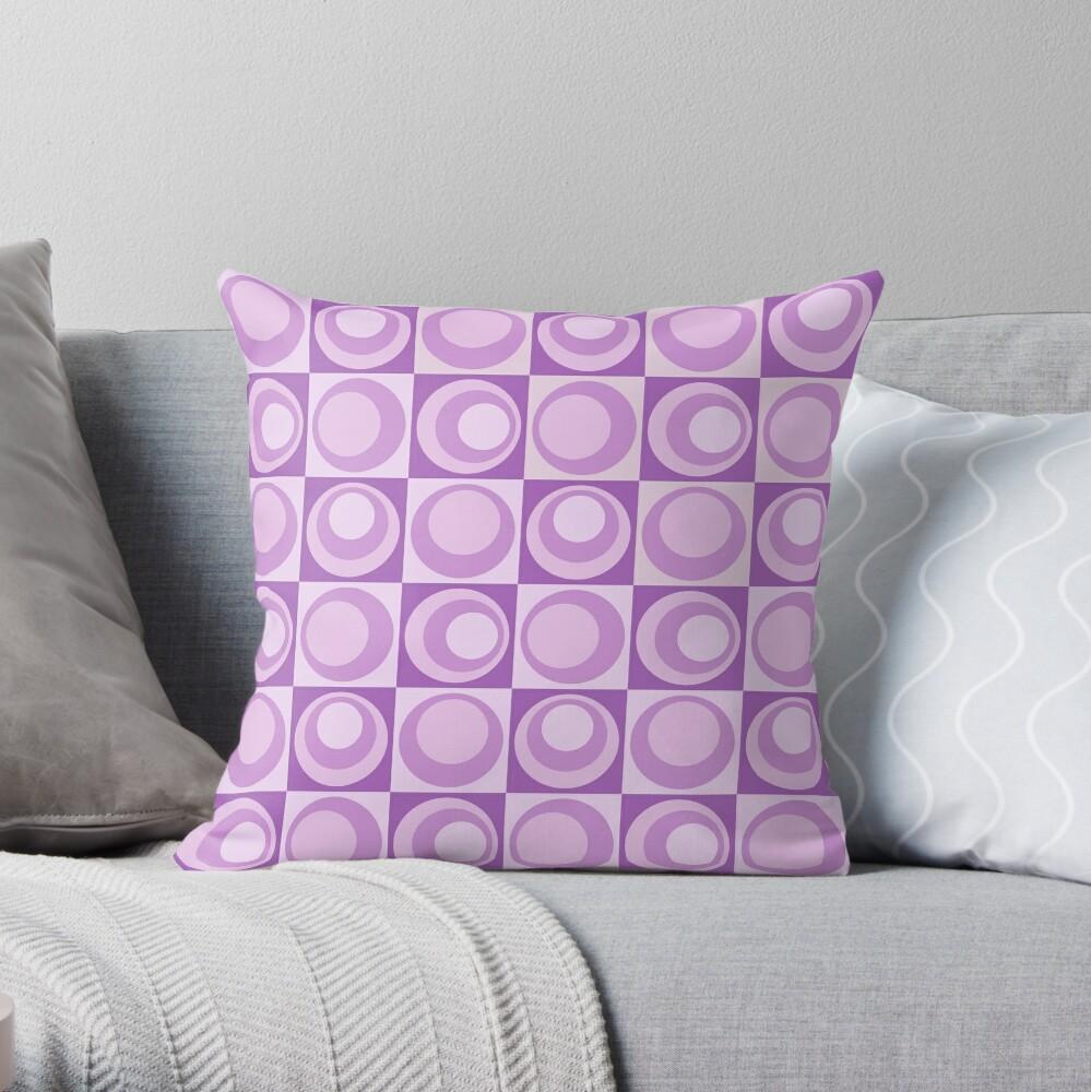 Lavender Dreams Circle Geometric Pattern Throw Pillow By Ilexdesigns Redbubble