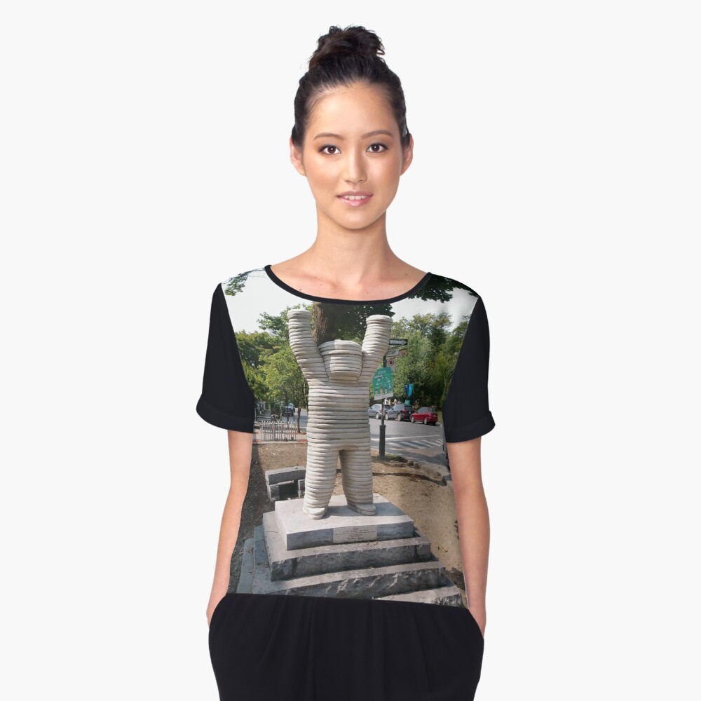 Montreal, #Montreal #City, #MontrealCity, #Canada, #buildings, #streets, #places, #views, #nature, #people, #tourists, #pedestrians, #architecture, #flowers, #monuments, #sculptures, #Cathedral Women's Chiffon Top Front