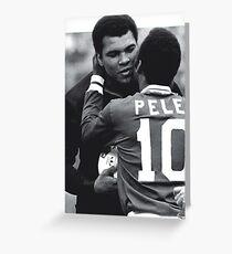 Pele, Muhammad Ali Grußkarte