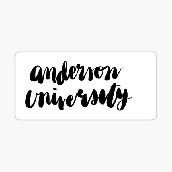 Anderson University Cursive Sticker