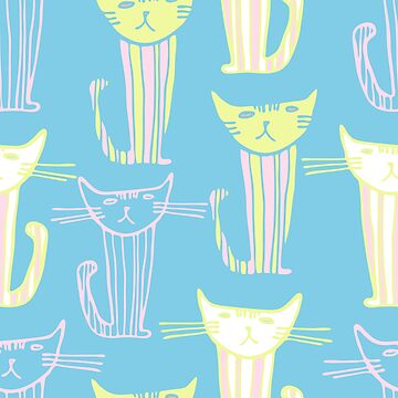 Seamless design with cats_04 by talanaart