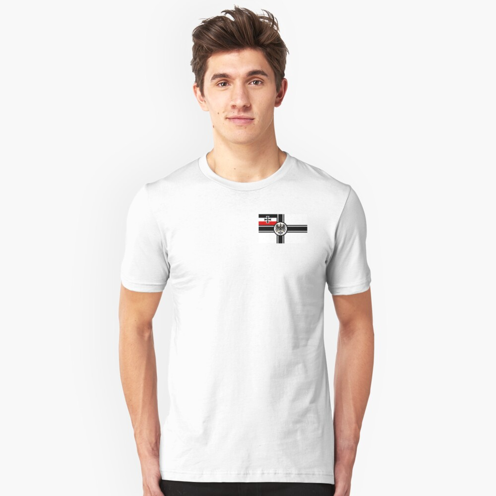 German Armed Forces WWI Flag. Slim Fit T-Shirt