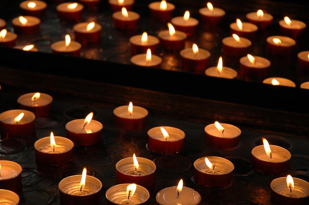 My Candle Adds To The Vast Illumination, Santa Maria Della Salute Church, Venice 2009 by Ainsley Kellar Creations