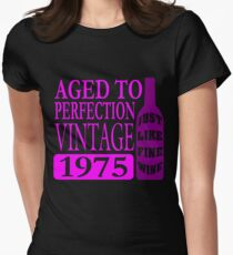 Vintage 1975 Aged To Perfection Womens Fitted T-Shirt