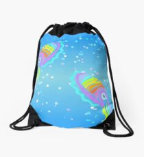 Deep-sea Neon - Tribalish Cuttlefish Drawstring Bag