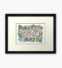 Garden Alphabet Framed Print