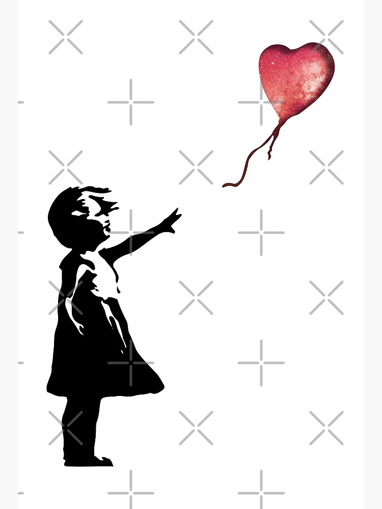 Banksy - Girl with balloon red by DylanJaimz