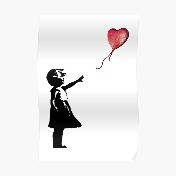 Banksy - Fille avec ballon rouge Poster