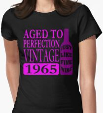 Vintage 1965 Aged To Perfection Womens Fitted T-Shirt