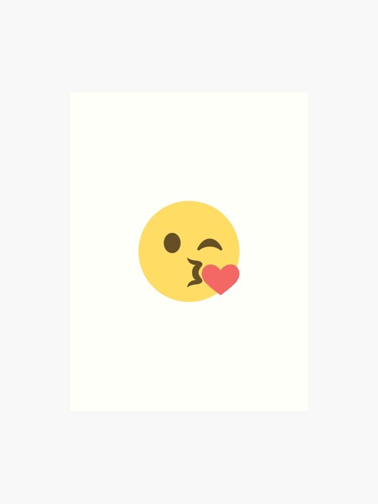 Kiss Emoji | Art Print