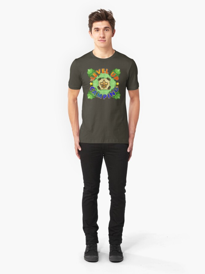 Alternate view of Level Up Camping Slim Fit T-Shirt