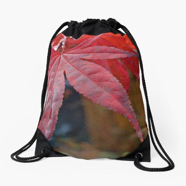 Japanese Maple Leaf Drawstring Bag