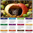 wild house mouse  in a apple calendar  by Simon-dell