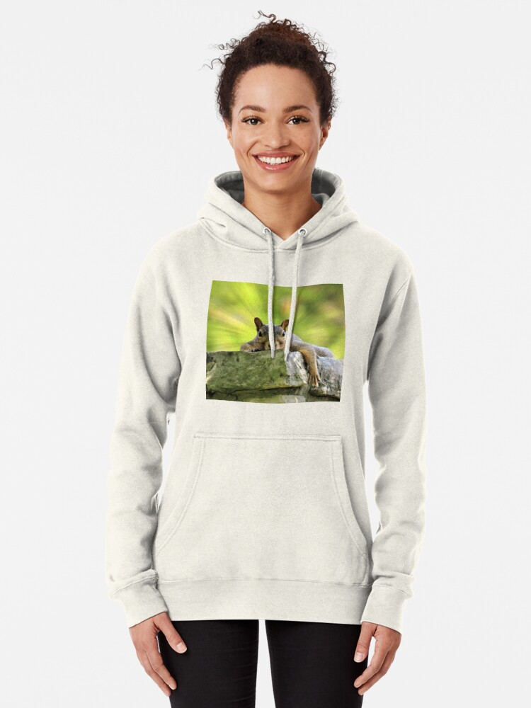 Alternate view of Relaxed Squirrel Pullover Hoodie